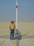 Dave Schaefer and his Hyperion before launch